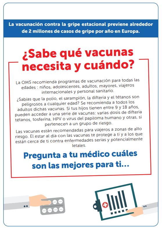 2. ¿Sabes qué vacunas necesitas y cuándo?