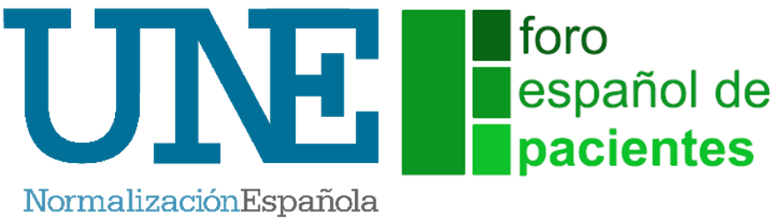 Logotipo UNE y FEP