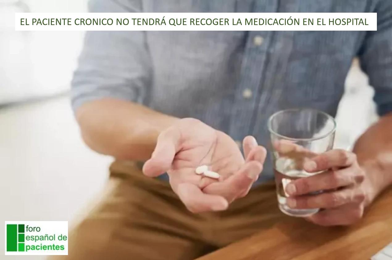 EL PACIENTE CRONICO NO TENDRÁ QUE RECOGER LA MEDICACIÓN EN EL HOSPITAL